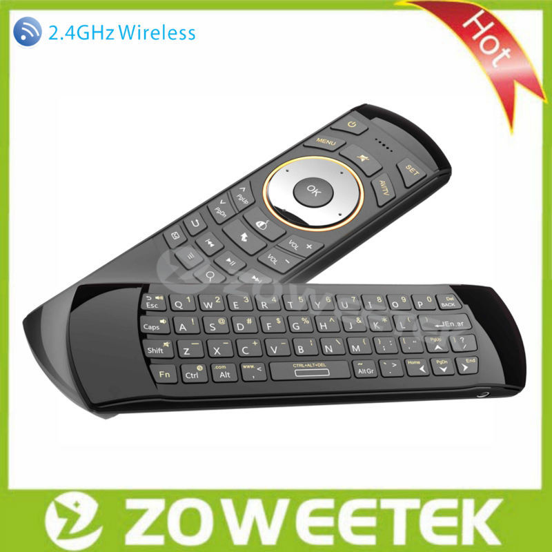 Wireless Mouse Mini Laptop Keyboard with IR Remote Control