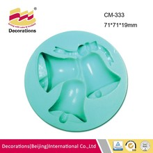 Christmas bell silicone fondant mold soap mold clay craft mold high quality factory price