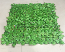 Light green fabric hedge dense silk leaf fence outdoor decoration