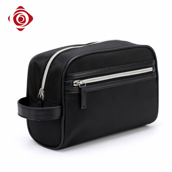 Stylish black high quality travel cosmetic bags for men