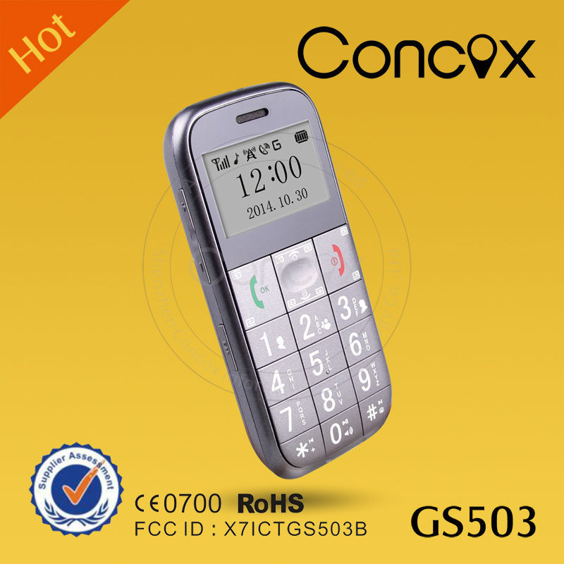 Concox GS503 shock sensor Cheap mobile phone for old people