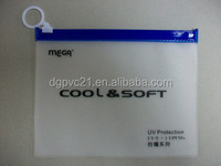 Hot sale ziplock clear/frosted PVC/EVA bag for underwear packaging