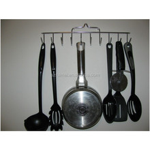 metal kitchen cookware tool hanging rack with hook