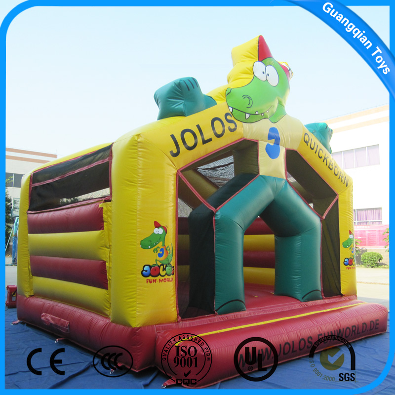 Guangqian Kids Play Cheap Inflatable Crocodile Bouncer for Sale
