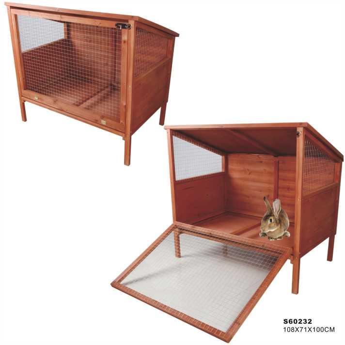 En plein air 2 histoire grand en bois lapin cage lapin for Cage exterieur pour lapin pas cher