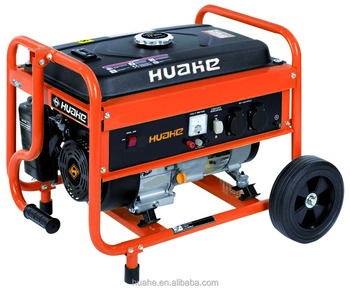 2kw portable gasoline generator manual start single phase with handles and wheels