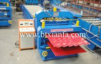 Unique Designed Double Deck Roof Sheet Roll Forming Machine