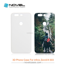 For Infinix Zero 5/X603 Blank Plastic Sublimation 3D Phone Case