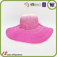 Big wide brim sun visor floppy summer protection woman beach paper straw hat