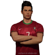 Wax figure of the most famous football player in world Ronaldo wax figure for museum
