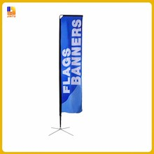 China Manufacturing Outdoor Fabric Teardrop Flag Stand