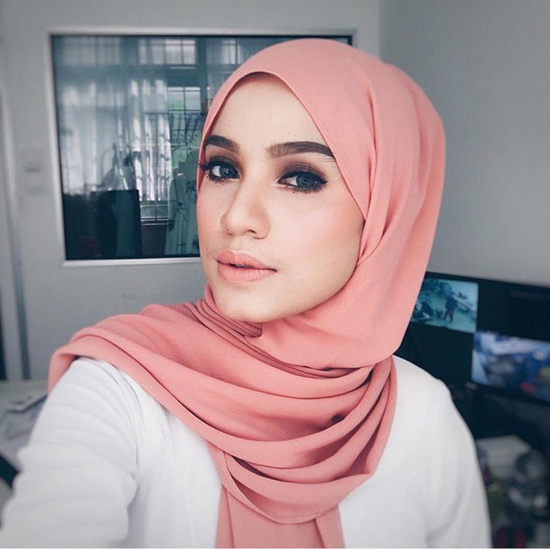 Superseptember High quality plain bubble chiffon solid color shawls arab hijab summer lady muslim <strong>scarf</strong>