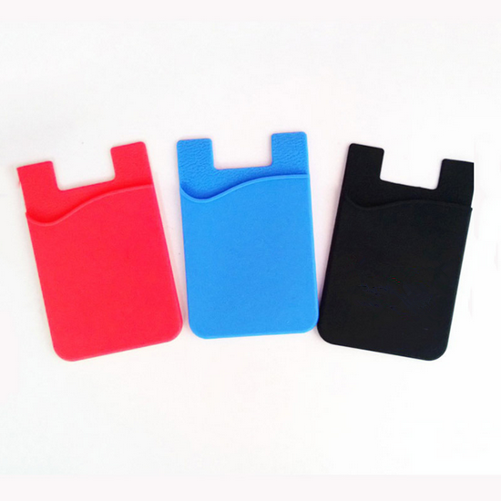 Promotional Gift Item Smart Wallet Silicone Card Holder For Mobile Phone