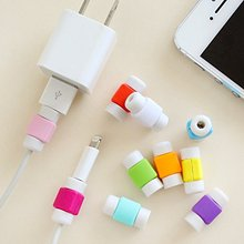 Popular cartoon pvc USB Charger Cable Saver Protector For iPhone