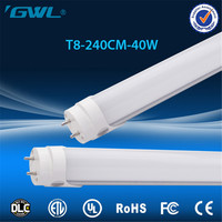 AC100-277V UL cUL DLC listed 2.4m 40w manufacturer t8 8ft 44w custom-made led tube light t8 6700k