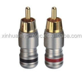 RCA Plug Audio Male Connector Solder Gold Plated
