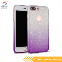 Alibaba wholesale factory promotions tpu pc case shockproof phone case for iphone 7 glitter case