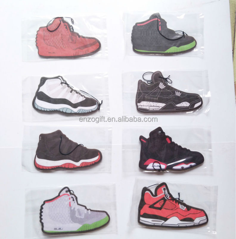 hanging shoes car air fresheners, bulk shoes design jordan freshener