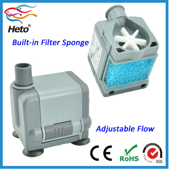 Heto QD-1900 ultra-quiet Aquarium Submersible Water Pump (120 GPH)