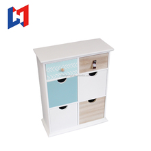 Multilayer Cosmetics Storage Case Wood Mini filing cabinet