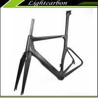 2017 LightCarbon 700C cycling frame carbon road bike 700C light weight carbon fiber bicycle frame LCR009-V