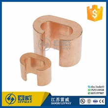 C Type Copper Crimp Connector/Copper Clamp for earth rod