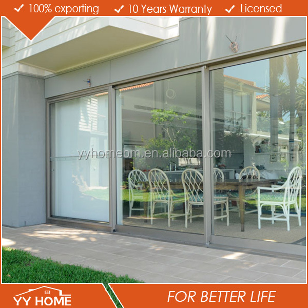 YY Home aluminium folding door new design door skin entry door glass inserts