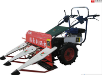 Agricultural harvesting tool 4G80 gasoline mini rice / wheat harvester