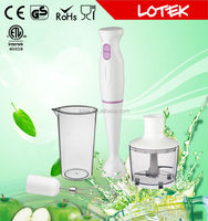 quietly AC motor OEM hand blender with stainless steel blades