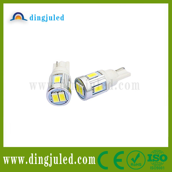 Automobiles led car bulb T10 width lamp 5630smd 6pcs Fast active auto led indicator light lamp