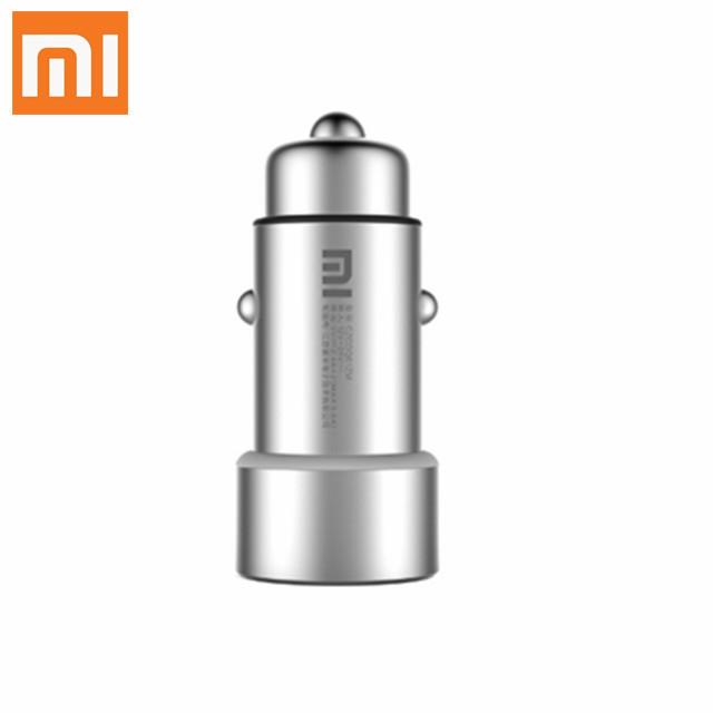 Hot Original Xiaomi Mi Car Charger Metal Casing Dual USB Ports 5V 2.4A Universal Car Charger for Cellphone