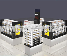 glass wall showcase glass display showcase acrylic rod display for store mobile phone display showcase