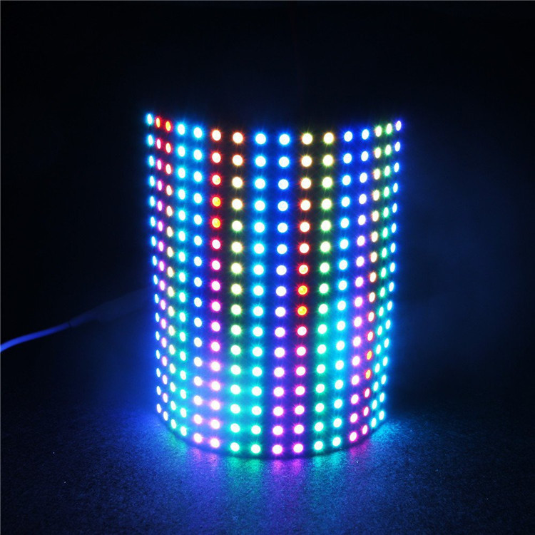 Programmable flexible led pixel display SK6812/WS2812