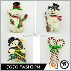 2015 Latest Christmas Gift Christmas Snowman Brooch Pins Epoxy Pins