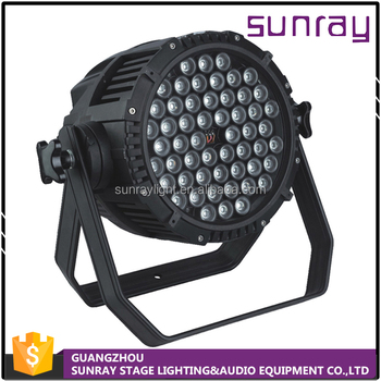 Stage Use Aluminum Shell 8 Control Channels Waterproof 54Pcs 3W High Brightness Led Par Light