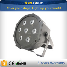 7pcs 10W rgbw 4in1 LED Mini Par Light