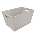 FSC&BSCI handmade rustic cheap shabby chic white wooden storage tote