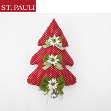 unique design tree shaped hanging ornament christmas decoration pieces with bells