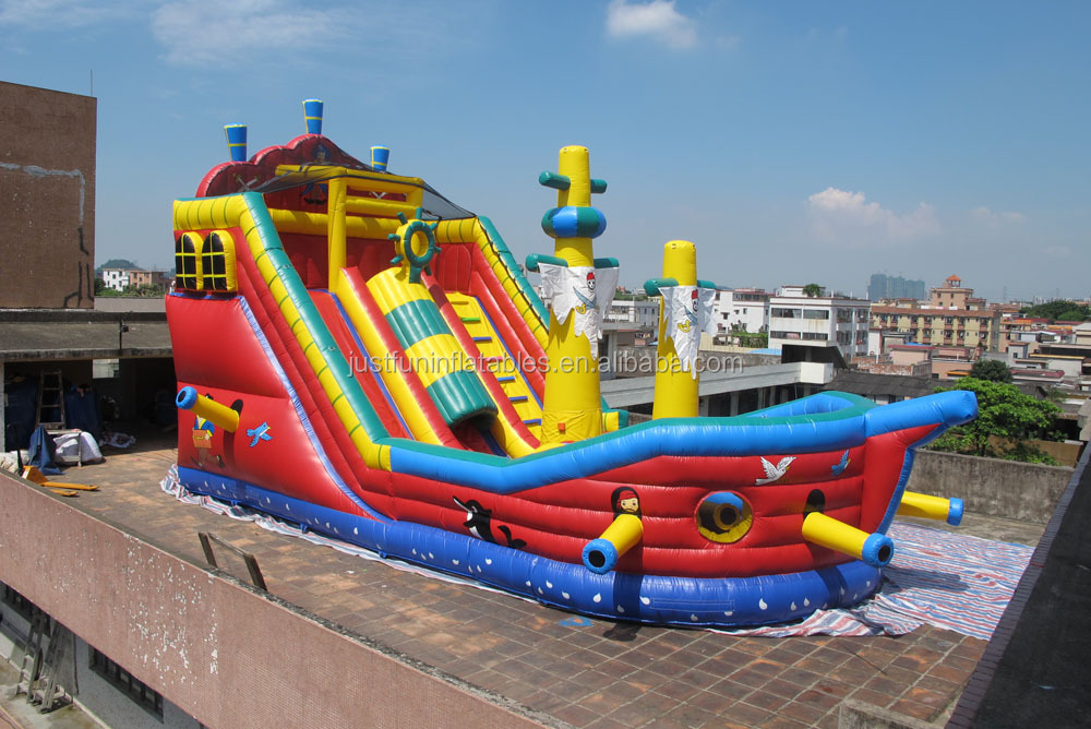 giant pirate boat inflatable bounce slide obstacle courses for kids n adults for sale