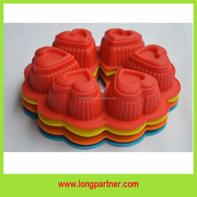 Good quality Heart shape silicone cake mould