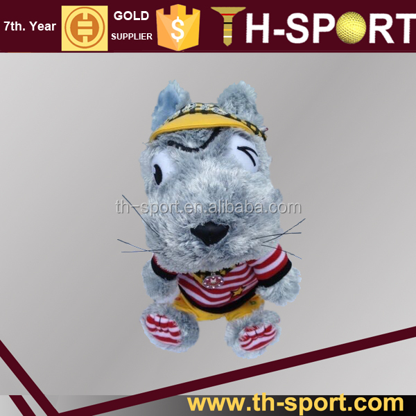 Dog golf head cover