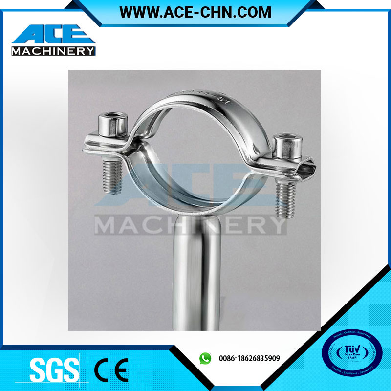 "China Factory Sale Ss304 4"" Tri Clamp Stianless Steel Pipe Holderwith Male Thread BSP"