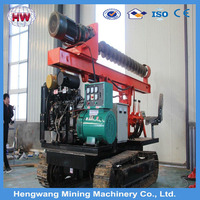 2016 jining hengwang Earth auger drilling rig, Bored pile in spiral machine, Hydraulic rotary drill rig