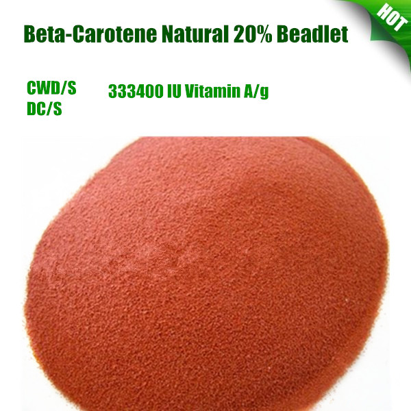 Natural Beta-Carotene Beta carotene 20% Beadlet 333400 Food Grade Pharmaceutical Grade