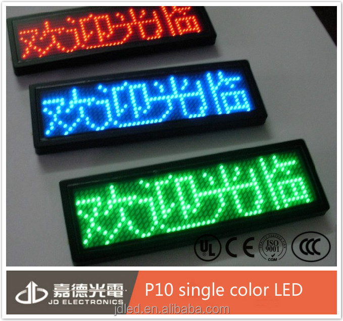 rental P10 car sign/window sign led display for moving text