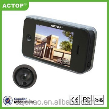 3.5 inch TFT color dispaly digital door peephole viewer with take picture PHV-3505