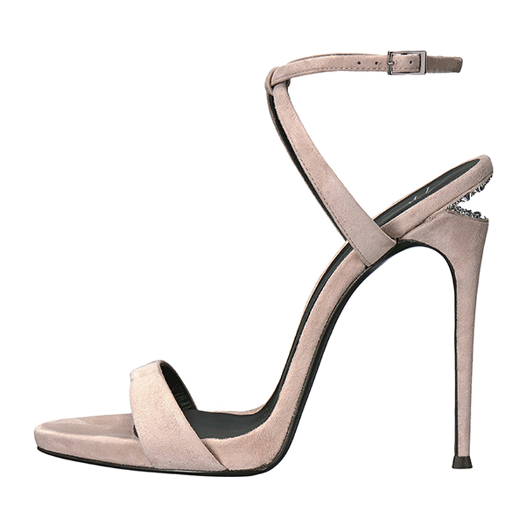 High heels girls with straps in crisscross design 2017