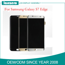 100% tested Gold Silver Black White LCD Screen Display Digitizer Assembly For Samsung S7 Edge LCD G935F G935FD