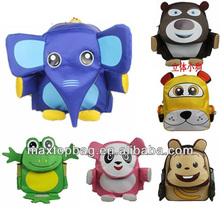 New design Cute toddlers 3D kid child zoo pack animal bags rucksack lunchbag Elephant/monkey/panda/leopard/tiger