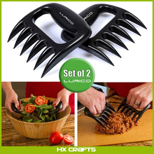 Food grade glossy finish bbq meat claws for pulled beef bear paw meat handlers bear paw meat handler forks